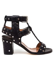 Laurence Dacade Studded Block Heel Sandals Black