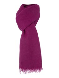 Marella Large Plain Cotton Scarf Purple