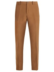 Connolly Mid Rise Slim Leg Crepe Trousers Brown