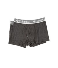 Columbia Performance Cotton Stretch Trunks 2 Pack Black Charcoal Men's Underwear