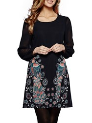 Yumi Peacock Placement Tunic Navy