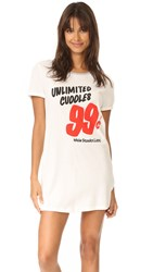 Minkpink Unlimited Cuddles Pajama Dress Off White