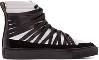 Damir Doma Black And White Falco High Top Sneakers