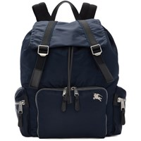 Burberry Blue Medium Aviator Backpack
