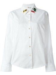 Red Valentino Embellished Collar Shirt White
