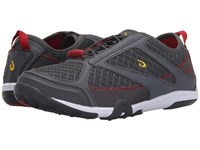 Olukai 'Eleu Trainer Dark Shadow Deep Red Shoes Black