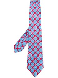 Kiton Floral Neck Tie Red