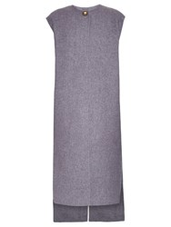 Acne Studios Vento Wool And Cashmere Blend Sleeveless Coat Grey