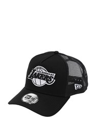 New Era Nba Essential Cotton And Mesh Baseball Hat Black