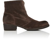 Barneys New York Women's Burnished Suede Ankle Boots Dark Brown