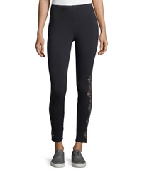 Johnny Was Aspen Embroidered Leggings Plus Size Black