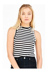 Project Social T Seeing Stripes Muscle Tee Black And White