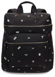 Paul Smith Black Printed Backpack