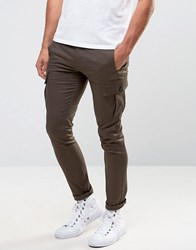 Asos Super Skinny Cargo Trouser In Brown Turkish Coffee