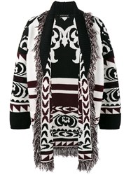Etro Fringe Knitted Cardigan Women Wool 44 Black