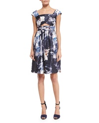 Keepsake Confessions Cap Sleeve Dress Blurred Floral