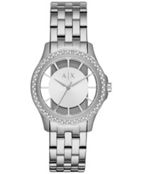 Armani Exchange Women's Lady Hampton Stainless Steel Bracelet Watch 36Mm Ax5250 Silver