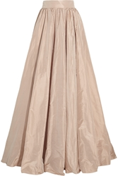 Jenny Packham Pleated Silk Taffeta Maxi Skirt