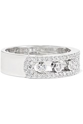 Messika Move Noa 18 Karat White Gold Diamond Ring