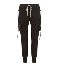 Rick Owens Cargo Jersey Joggers Male Black