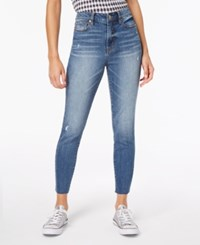 Dollhouse Juniors' High Rise Ankle Skinny Jeans Light Wash
