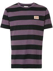 Kent And Curwen Striped T Shirt Pink And Purple