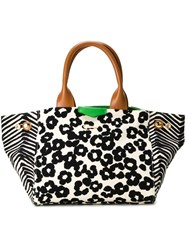 Muveil Leopard Print Tote White