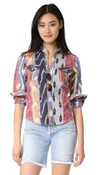 Warm Ripple Shirt Multi Ikat