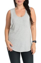 Bun Maternity Pocket Nursing Tank Heather Gray