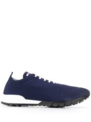 Kiton Knitted Upper Low Top Sneakers Blue