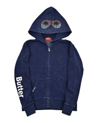 Butter Shoes Vacay Studded Zip Up Jacket Blue