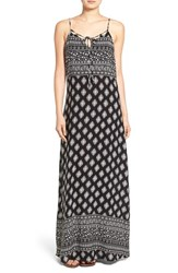Women's Mimi Chica Print Tie Front Maxi Dress