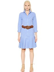 Polo Ralph Lauren Alexis Striped Cotton Poplin Shirt Dress