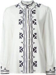 Vilshenko Embroidered Boho Blouse White