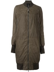 Isaac Sellam Experience Zipped Coat Green