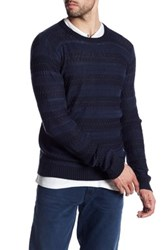 Antony Morato Pattern Knit Sweater Blue