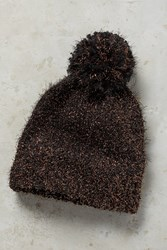 Anthropologie Tinselknit Pom Beanie Black