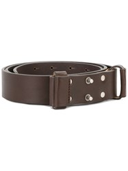 Al Duca D'aosta 1902 Studded Buckle Belt Brown