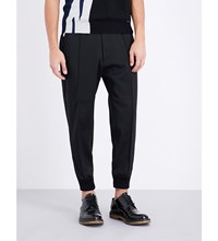Dsquared2 Tapered Stretch Wool Trousers Black