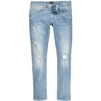 River Island Light Blue Ripped Danny Super Skinny Jeans