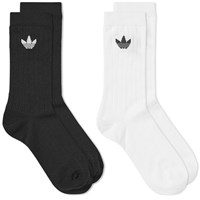 Adidas Mid Rib Sock 2 Pack Black