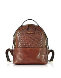 The Bridge Handbags Salinger Woven Leather Backpack