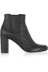 Saint Laurent Babies Cracked Leather Ankle Boots