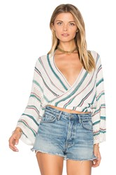 Goddis Dancer Wrap Sweater Ivory