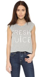 Rebecca Minkoff Fresh Juice Tee Heather Grey