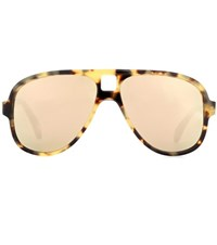 Acne Studios Hole Aviator Mirrored Sunglasses Brown
