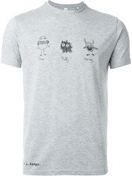 Aspesi Graphic T Shirt Grey