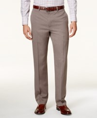 Alfani Red Men's Flat Front Gray Taupe Pants Only At Macy's Grey Taupe