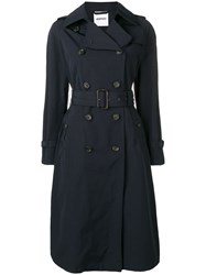 Aspesi Belted Trenchcoat Blue