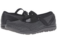 Propet Travelactiv Mary Jane Black Grey Heather Women's Shoes Gray